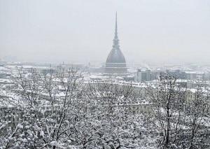 Torino sotto la neve (Photo courtesy 3bmeteo.com)