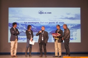 Serata Montagna.tv all'Orobie Film Festival - sul palco Roberto Gualdi, Agostino Da Polenza, Yasir Hussain e Maurizio Gallo