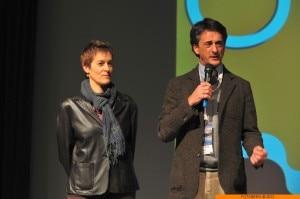 Renata Viviani e Roberto Gualdi alla serata inaugurale di Off