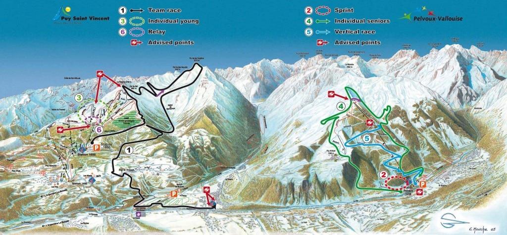 Tracciato gare Mondiali di Skialp Puy Saint Vincent