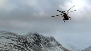 Elicottero dei soccorsi in volo (Photo courtesy of news.stv.tv)