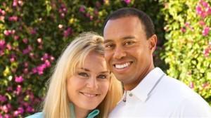 Lindsey Vonn e Tiger Woods in una delle foto pubblicate sui loro profili di Facebook (Photo courtesy of Lindsey Vonn e Tiger Woods)