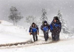 Una squadra di terra del Pghm durante un intervento di soccorso in pessime condizioni meteorologiche (Photo courtesy of gendarmerie44.skyrock.com)