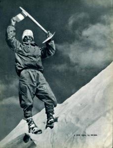 Annapurna First Ascent - Maurice Herzog On Annapurna Summit June 3, 1950