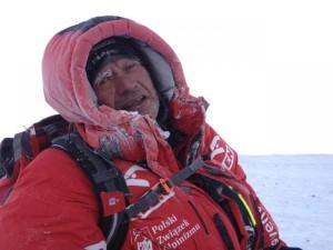 Maciej Berbeka a 7500 metri (Photo Tomasz Kowalski polskihimalaizmzimowy.pl)