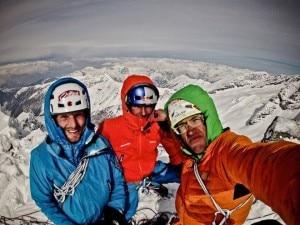 Ortner, Lama e Auer in cima (Photo Hansjörg Auer)
