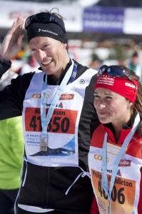 Pippa middleton all Engadine Ski marathon con Nico Jackson (Photo courtesy www.nydailynews.com)