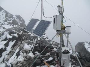 Stazione climatica Rwenzori (Photo G.Verza e M.Alborghetti)