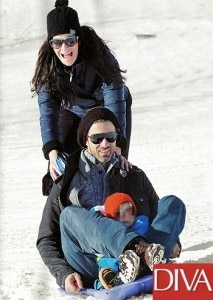 Kim Rossi Stuart al Tonale con la famiglia (photo courtesy Diva)