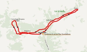 Tracciato della Kundaluna Race (Photo Pagina Facebook Kundaluna race)