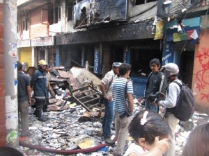 The after-fire scene. Photo: Nepal Mountain Focus