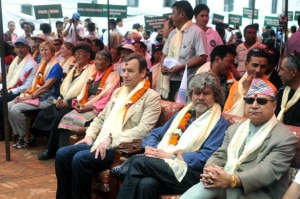 Tourism Minister Ram Kumar Shrestha attends the function along with other climbers and delegates. Photo: Nepal Mountain Focus