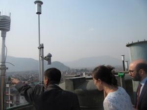 The visiting delegates observing the Suskat Station