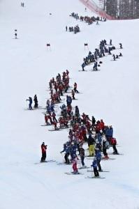 """La pista """"Olimpia delle Tofane"""" a Cortina d'Ampezzo, finora unica tappa italiana delle gare della Coppa del Mondo femminile di Sci Alpino (Photo courtesy of www.cortinaclassic.com)"""