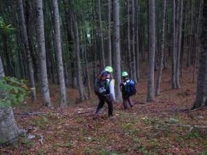 Gli uomini del Soccorso Alpino nei pressi del luogo del ritrovamento (Photo courtesy of Cnsas Abruzzo)