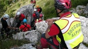 Una squadra del Soccorso Alpino Speleologico Lazio in azione (Photo courtesy of www.soccorsoalpinolazio.it)