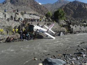 A Jomsom bound aircraft from Pokhara, belonging to Nepal Airlines that crashed in Mustang, some 200 kilometers northwest of Katmandu on May 16, 2013. All onboard were rescued alive in the accident that occurred after the aircraft skidded off from runway to a nearby Kaligandaki river. Photo: File photo/Nepal Mountain Focus