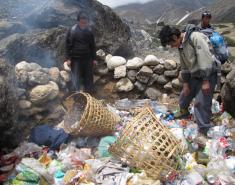 Members of the team with the garbage they have collected. Photo: TAAN