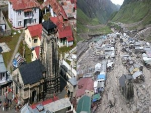 The Kedarnath Temple and its premises before the flood (left) and after the flood. Photo: Agency