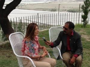 Stefania Mondini del Comitato EvK2Cnr intervistata dalla tv pakistana