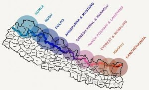 The Great Himalayan Trail map. Photo: File photo