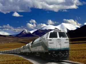 A rail that belongs to Qinghai-Tibet Railway Company . Photo: Agency