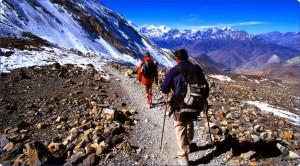 Foreign tourists enjoying high altitude trekking in Nepal. Photo: nepalmountainnews.com