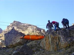Una foto del Corso di soccorso per guide Sherpa del 2005