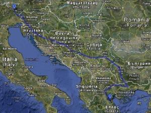 Il percorso dallo Zoncolan all'Olimpo