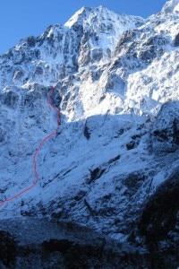 La parete ovesr del Monte Tutoko (Photo Guy McKinnon Climber.co.nz)