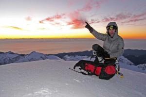 McKinnon in cima al Monte Tutoko (Photo Guy McKinnon Climber.co.nz)