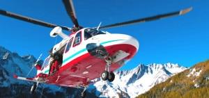 Elicottero del Soccorso Alpino Valdostano (Photo courtesy of www.soccorsoalpinovaldostano.com)