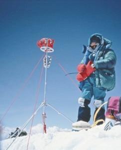 Everest 1992 Benoit Chamoux in vetta