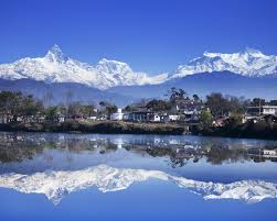 A beautiful scene of Mt. Machhapuchhre and Phewa Lake in Pokhara, a much visited tourism spot in Nepal. Photo: File photo