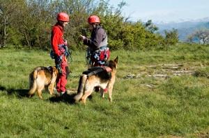 Soccorso alpino emiliano e unità cinofile in azione (Photo courtesy www.saer.org)