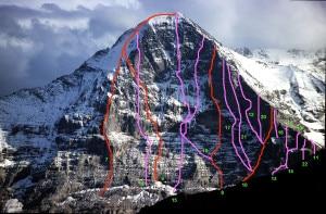 Eiger Nordwand_la numero 17: Piola-Ghilini Direttissima