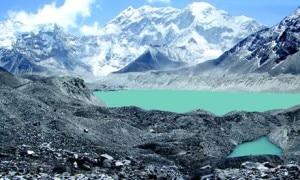 Glacier melting in Imja lake in Solukhumbu of Nepal, file photo, guradian.co.uk