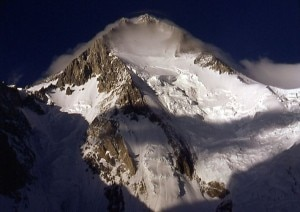 Il versante sud ovest del Gasherbrum I (Photo Olaf Rieck courtesy of Wikimedia Commons)
