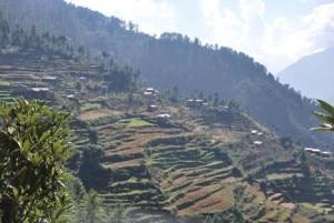 A Shivapuri hill terrain where lies Budhanilkantha. Photo: File photo.