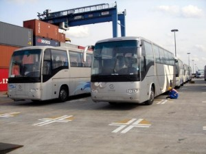 Buses from the Higer Company China. Photo: busworld.com