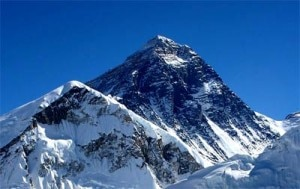 The 8848 meter high Mount Everest. Photo: File photo