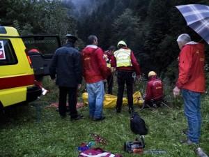 L'intervento del Soccorso Alpino in Val Sermenza (Photo courtesy of Soccorso Alpino Piemontese)