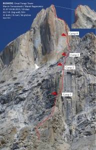 Bushido Torre Grande di Trango (Photo Tomaszewsk - climbing.com)