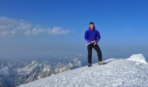 Luka Lindic in cima al Bianco (Photo ukalindic.si)