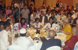 Participants of the concluding ceremony of round table meeting on child marriage and religion.