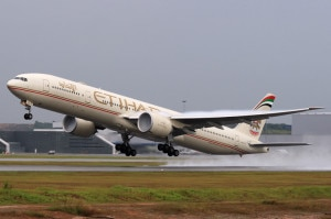 An aircraft of Etihad Airways. The airways is increasing its regular flights to Nepal owing to the tourist season here. Photo: airplane-pictures.net