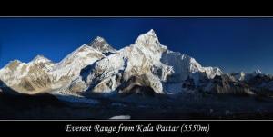 Everest range from Kala Pattar. Photo: File photo