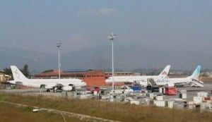 Aircrafts of different international airlines at Tribhuvan International Airport in Kathmandu. Photo: File photo