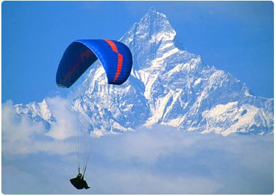 Paragliding in Pokhara, file photo.