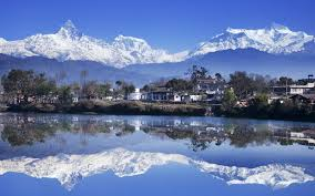An enchanting view of reflections of Mt. Machhapuchhare in the Phewa Lake in Pokhara. Photo: File photo